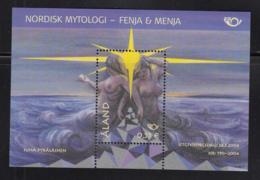 Aland 2004 MNH Scott #221 Souvenir Sheet Norse Gods Fenja, Menja - Aland