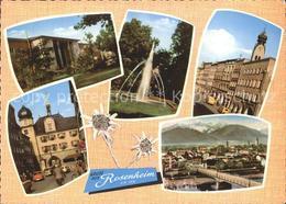 72352869 Rosenheim Bayern Gasthof Salinengarten Max Jos Brunnen Innbruecke Rosen - Duitsland