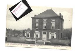 MONCEAU SUR SAMBRE  RUE DES PIGES   1909 Vers Blankenberge - Charleroi