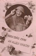 Rare Cpa Avec Soldat Anglais - 1914-18