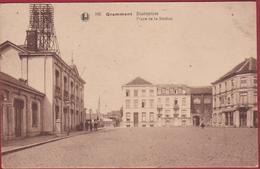 Geraardsbergen Grammont Statieplein Place De La Station Gare Statie 1921 Geanimeerd (In Zeer Goede Staat) - Geraardsbergen