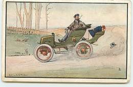 N°8721 - Carte Illustrateur - Edmund G. Fuller - Automobile - Illustrateurs & Photographes