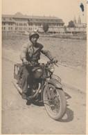 Rare Lot De 4 Photos Motards De La Police Militaire Troupes Française En Allemagne - 1939-45