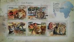 O) 2011 COMOROS, WILDLIFE-FLORA-MINERALS, PANTHERA PARDUS - LEOPARD, HABITAT- AFRICA MAP, MNH - Comoros