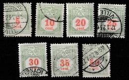 Luxembourg 1922/1935 Portomarken Mi.10-16. See Description. - Postage Due