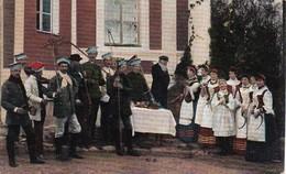 AK Weissrussland - Belarus - Männer Und Frauen In Trachten - Feldpost 1917  (36250) - Europe