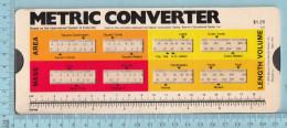 Regle Calcul - 1976 Barron's Educational Series N.Y. Metric Converter, Rule - Other