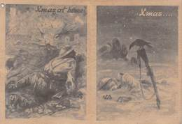 WWII WW2 German Propaganda Leaflet Tract Flugblatt, Code ECA., Xmas At Home?/Xmas.../Xmas At Home!, FREE SHIPPING - Vieux Papiers