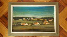 Tableau (huile, Grand Format) De Pierre Michel : 78x48 Cm - Oils