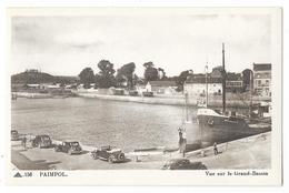 """Cpa: 22 PAIMPOL (ar. Saint Brieuc) Vue Sur Le Grand Bassin (Cargo Caboteur """"Mondara"""", Voitures, Traction Citroen) N° 156 - Paimpol"""