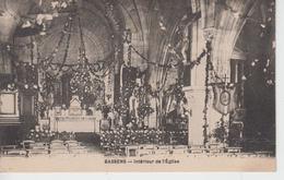 CPA Bassens - Intérieur De L'église (avec Décoration De Fleurs Et Guirlandes) - Sonstige Gemeinden