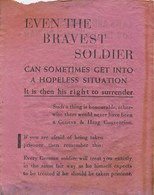 WWII WW2 German Propaganda Leaflet Tract Flugblatt, EVEN BRAVEST SOLDIER CAN SOMETIMES GET INTO A HOPELESS SITUATION - Non Classificati