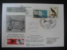 Deutschland Westberlin 1973- Beleg Vom Großflugtag In Bremen Mit Sonderstempel Auf MiNr. 444 - Briefe U. Dokumente