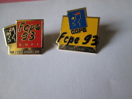 PIN'S   LOT 2   CDPE  FCPE  93  ECOLE PUBLIQUE - Verenigingen