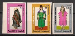 Tunisie - 1987 - N°Yv. 1093 à 1095 - Costumes - Non Dentelé / Imperf. - Neuf Luxe ** / MNH / Postfrisch - Tunisie (1956-...)