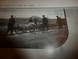 1914-1918 LA GUERRE En Yser->Mitrailleuse Belge Trainée Par Des Chiens;Zouaves;Epluchage Pommes De Terre;Elverdinghe;etc - Magazines & Papers