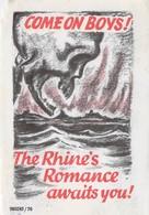 WWII WW2 German Propaganda Leaflet Tract Flugblatt, Code 980245/76, COME ON BOYS! The Rhine's Romance Awaits You! - Vieux Papiers
