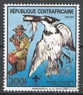 Central African Republic 1988. Scott #922 (U) Scout And Ceryle Rudis (Bird) * - Centrafricaine (République)