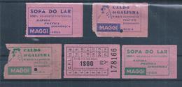 Chicken Broths Maggi.Hühnerbrühen Maggi. 5 Lisbon Tram Tickets With Advertising To Maggi. Electrico Da Carris De Lisboa. - Soups & Sauces