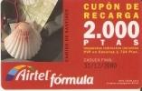 ACR-045/1 TARJETA CAMINO DE SANTIAGO DE 2000 PTAS (CARACOLA- SEA SHELL) - Airtel