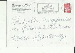Le Grand-Bornand  74   Enveloppe Flamme Timbrée De L'HOTEL  EVEREST  S A R L - France