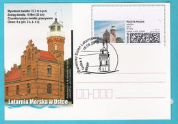 Poland 2018,postcard Entire,lighthouse USTKA Phare, LIMITED EDITION - Ships