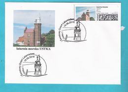 Poland 2018, Cover, Lighthouse USTKA Phare, LIMITED EDITION - Ships