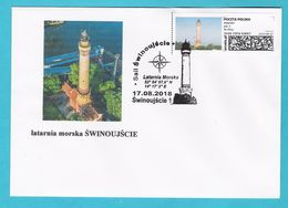 Poland 2018, Cover, Lighthouse SWINOUJSCIE  Phare, LIMITED EDITION - Ships