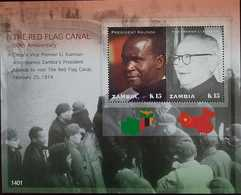 O) 2014 ZAMBIA, PRESIDENT KAUNDA - VICE PREMIER LI XIANNIAN - RED FLAG CANAL - Zambia (1965-...)