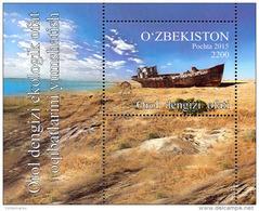 Uzbekistan 2016 Mih. 1135 (Bl.76) Aral Sea. Ship MNH ** - Oezbekistan