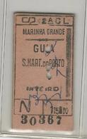 Ticket * Portugal * CP (Comboios De Portugal) * Marinha Grande - Trenes