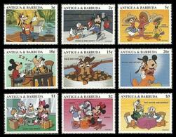 ANTIGUA BARBUDA 1997 DISNEY CHARACTERS CHESS BOXING IMUSIC SET & 2 M/SHEETS MNH - Antigua And Barbuda (1981-...)