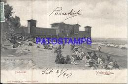 98615 GERMANY WESTERPLATTE DEMENBAD BEACH YEAR 1907 CIRCULATED TO SWITZERLAND POSTAL POSTCARD - Sin Clasificación
