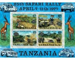 Ref. 49074 * MNH * - TANZANIA. 1977. 25th ANNIVERSARY OF THE SAFARI RALLY . 25 ANIVERSARIO DEL SAFARI RALLY - Voitures