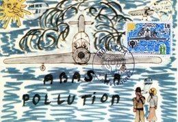 """MONACO 1976 : Carte Maximum """" LUTTE CONTRE LA POLLUTION """". Parfait état. CM - Pollution"""