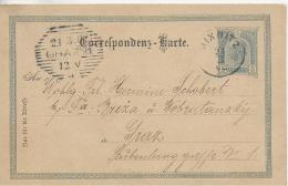 AK 0019  Correspondenz-Karte 5 Heller Von Mixnitz Nach Graz Am 21. 3. 1902 - 1850-1918 Imperium