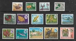 "Southern Rhodesia,1966, ""Rhodesia""  Definitive Set 1/2d - £1,  MNH ** - Rhodesia (1964-1980)"