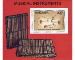 Ref. 365229 * MNH * - TANZANIA. 1989. MUSIC INSTRUMENTS . INSTRUMENTOS MUSICALES - Tanzania (1964-...)