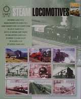 O) 2004 GRENADA, STEAM- LOCOMOTIVE-RAILWAYS - TRAIN - SHEET MNH - Grenada (1974-...)