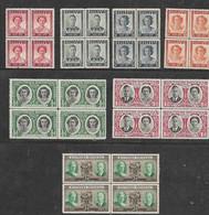 S. Rhodesia, 1947 Royal Visit, Victory, 1950 Jubilee, Blocks Of 4, MNH* - Southern Rhodesia (...-1964)