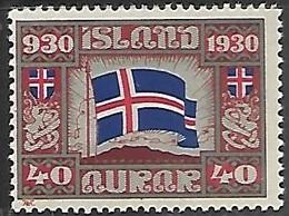 Iceland   1930  Sc#161   40a   MNH  2016 Scott Value $7.50++ - Unused Stamps