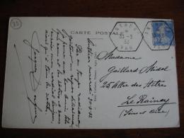 Antheor Var Recette Auxiliaire Obliteration Sur Lettre - 1921-1960: Moderne