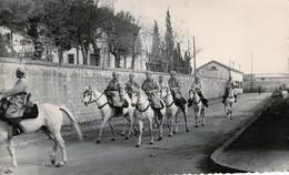 Rare Très Belle Photo D'un Groupe De Cavaliers De Spahis Marocains - 1939-45