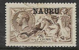 Nauru, George V Seahorses, 2/6 De La Rue Ptg, Opt NAURU, MH *, Torn - Nauru