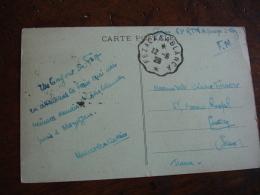 Fez A Casablanca Cachet  Ambulant Convoyeur Poste Ferroviaire Sur Lettre - Marcophilie (Lettres)