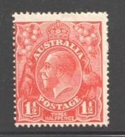 1½d. Scarlet  Wmk 5 (Small Multiple Wmk)MM - MH - 1913-36 George V: Heads