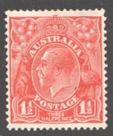 1½d. Scarlet  Wmk 5 (Small Multiple Wmk)MM  Perf 13½ X 12½ - MH - 1913-36 George V: Heads