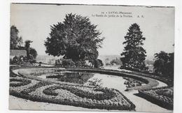 (RECTO / VERSO) LAVAL EN 1933 - N° 12 - LE BASSIN DU JARDIN DE LA PERRINE - CPA VOYAGEE - Laval