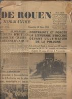 Journal De Rouen Du 20 Mars 1938 - Newspapers