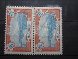 VEND BEAUX TIMBRES DE MARTINIQUE N° 123 EN PAIRE , XX !!! - Martinique (1886-1947)